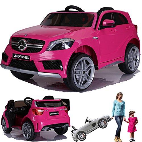 SIMRON - Mercedes-Benz A45 AMG SUV Ride-On 12V Kinderauto Kinderfahrzeug (Pink/Rosa)