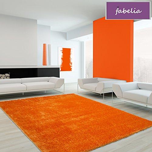 Alfombra mullida Flairy–Suave y colorida, naranja, 120 cm x 170 cm