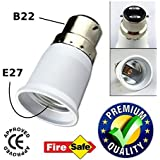 Ascension ® B22 to E27 Screw Base Socket Lamp Holder Light Bulb Converter Adapter (Pack of 1)