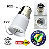 #10: Ascension ® B22 to E27 Screw Base Socket Lamp Holder Light Bulb Converter Adapter (Set of 2)