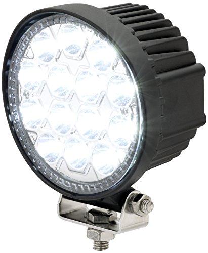 AdLuminis LED Arbeitsscheinwerfer Rund, 42 Watt 2520 Lumen, EPISTAR Chips, Für 12V 24V, Mega Spot Beleuchtung 10°, 10-30 Volt, IP67 Schutzklasse, 6000K, Zusatzscheinwerfer, Rückfahrscheinwerfer, Suchscheinwerfer