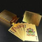 Leaptech Wasserdichtes Pokerkarten Gold Playing cards Profipokerkarten aus Plastik Profi Poker Karte Spielkarte Top Qualität Plastic Poker
