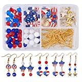 Best American Girl Crafts Jewelry Making Kits - SUNNYCLUE 1 Set 160pcs DIY USA American Flag Review
