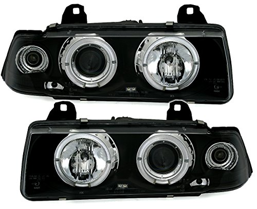 AD Tuning GmbH /& Co Verre Transparent Noir KG Phares Angel Eyes Set avec veilleuse