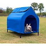 AmazonBasics Elevated Portable Pet House - Small, Blue