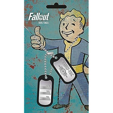 Colgante chapas identificativas Vault Tec. Fallout