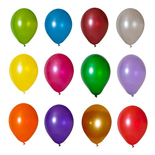 100 Luftballons Metallic Buntmix 11