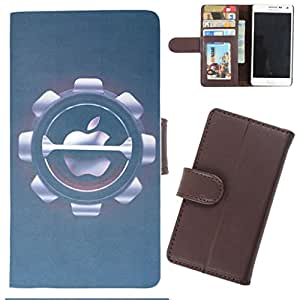 DooDa - For Sony Xperia L PU Leather Designer Fashionable Fancy Wallet Flip Case Cover Pouch With Card, ID & Cash Slots And Smooth Inner Velvet With Strong Magnetic Lock