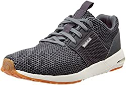 Reebok Mens Streetscape Sporty Alloy, Grey, Chalk and Red Nordic Walking Shoes - 8 UK/India (42 EU)(9 US)