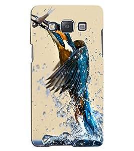 Citydreamz Birds Catching Fish/Water Splash/Nature Hard Polycarbonate Designer Back Case Cover For Samsung Galaxy E7