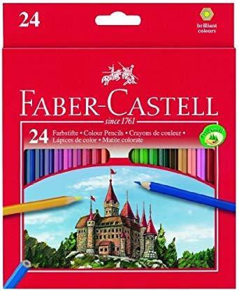 Faber Castell 111224 Farbstift Set 24 Buntstifte Faber-Castell 3mm,Faber-Castell 111224 Buntstifte 24 Stück Buntstifte Set 24 Buntstifte