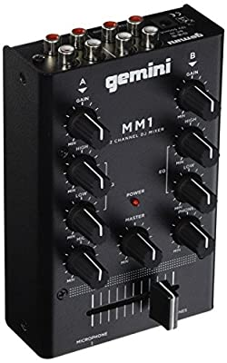 Gemini MM1 2-Channel Compact DJ Mixer
