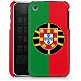 Apple iPhone 3Gs Hülle Premium Case Schutz Cover Portugal Flagge Fußball
