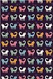 Posterlounge Acrylglasbild 40 x 60 cm: Bunte Katzen auf Dunklem Grund von Kidz Collection/Editors Choice - Wandbild, Acryl Glasbild, Druck auf Acryl Glas Bild