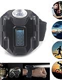 DXZMBDM reloj luz al aire libre luces tácticas con lámpara xpe cree 400 recargables 4 modos de flujo