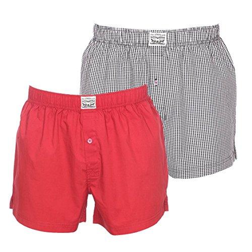 2 Stück Levis Webboxer Levi´s Shorts Boxershorts american für Herren Jungen , Grösse:XL - 7 - 54;Präzise Farbe:Caviar -