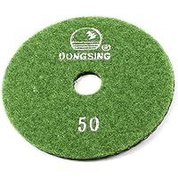 Sourcingmap a13050600ux0667 - 10 centimetri di spessore 5 mm di diametro 50 graniglia di marmo pad a diamante nero verde