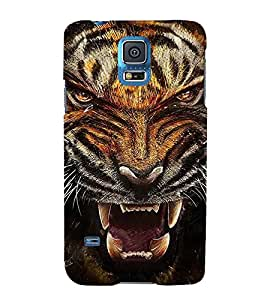PrintVisa Painting Of Tiger 3D Hard Polycarbonate Designer Back Case Cover for Samsung Galaxy S5 Neo :: Samsung Galaxy S5 Neo G903F :: Samsung Galaxy S5 Neo G903W