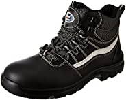 Allen Cooper AC-1426 High Ankle Heat Resistant Safety Shoe, PU NR Sole, Black, Size 9