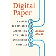 Digital Paper - A Manual for Research and Writing with Library and Internet Materials-
