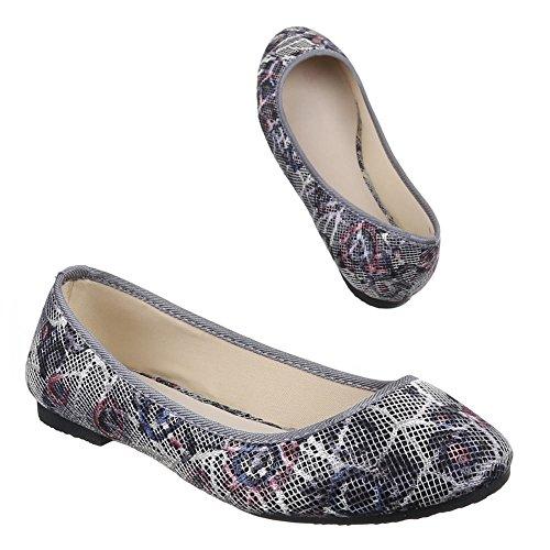 Ital-Design - Sneaker Donna Lila Grau