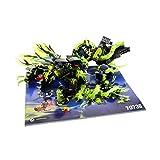 Bausteine gebraucht 1 x Lego System Teile Set für Modell 70736 Ninjago Angriff des Moro Drachens mit Anleitung grün Incomplete unvollständig
