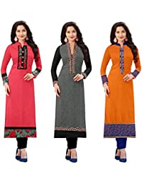 Today Best Offer New Collection Fancy And Party Wear Printed Kurti For Women New Designer Multi_Colored Cotton...