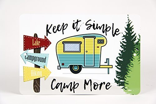 dekoration Schild Camping inspirierend Keep it Simple Cabin Decor Metall Pfosten Plaue für Frauen Herren ()