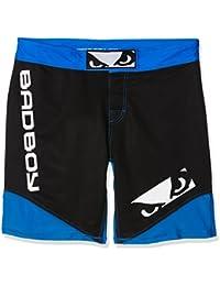 Bad Boy Legacy II - Pantalones de boxeo para hombre, color negro / azul, talla UK: Talla 2 Long