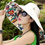ZHANGYONG*Cap bambini estate sun hat grande lungo la visiera parasole fold cappello di paglia frangisole esterno spiaggia , i tappi , sarà il battistrada, beige