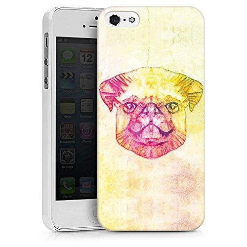 Apple iPhone X Silikon Hülle Case Schutzhülle Mops Dog Hund Hard Case weiß