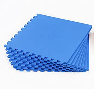 Gym Mats Blue 64sq ft: Amazon.co.uk: Sports & Outdoors
