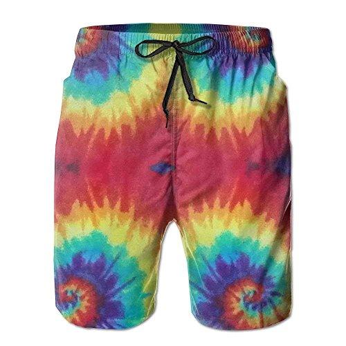 Magictop Tie Dye Swirl Pantaloncini da mare da Uomo Summer Surf Board Pantaloncini da spiaggia Pantalone Sportivo L - Junioren Tie Dye