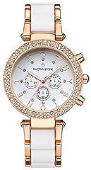 Idea Regalo - Timothy Stone COLLECTION DESIRE BICOLOR - Orologio da polso donna, colore Oro rosa/Bianco