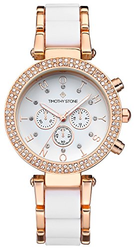 Timothy Stone Women's DÉSIRE Rose Gold-Tone and White Watch