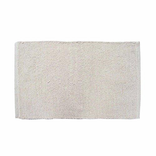 r Chenille Teppich Vorleger 45 x 70 cm aus 100% Reiner Baumwolle, Farbe: naturweiß/Creme, pflegeleicht und strapazierfähig ()