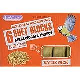 Suet To Go - 6 Bloques de sebo - gusano de la harina e insectos Receta