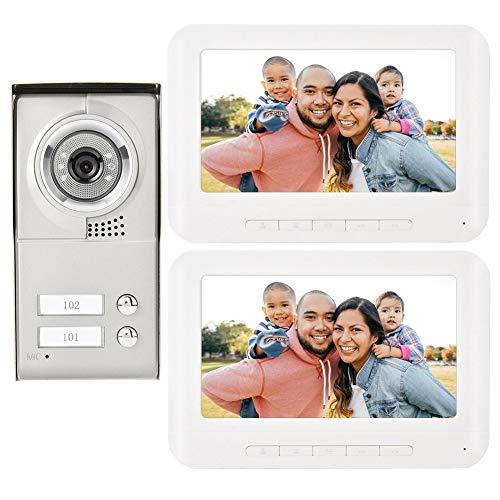 7in TFT LCD Wired Intercom Türklingel Kit - IR-CUT Nachtsicht Video Türsprechanlage Sicherheitssystem unterstützt elektronische Verriegelung, Freisprecheinrichtung, externe Türsteuerung(EU) - Lcd-verriegelung Kit