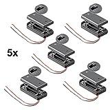 5 Stück Batteriehalter für 2x Mignon AA Akkuhalter Batteriefach mit Schalter Ein Aus