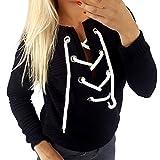 ❤Halloween Mosstars Hoodies Oversize Jumper Sweater Kapuzenpullover Sweatshirt Pullover High Neck Hoodies Langarm-Sweatshirt Bandage V-Ausschnitt Casual Top Trainingsanzüge