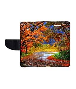 KolorEdge Printed Flip Cover For Samsung Galaxy A8 Multicolor - (1479-55KeMLogo11223SamA8)
