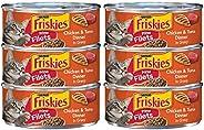 Purina Friskies Prime Filets Chicken & Tuna Dinner in Gravy Wet Cat Food Can 5.5 oz. (6 C