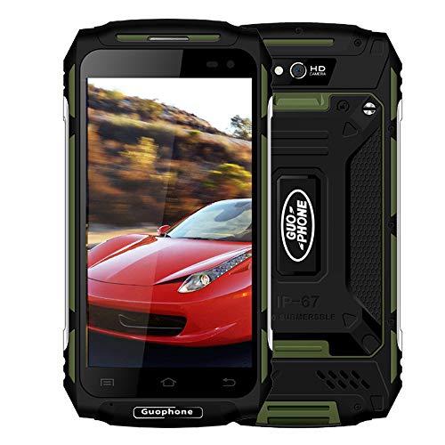 "Smartphone 5.0\"" Android 5.1 CPU MTK6737 Quad-Core-RAM 2GB + ROM 16GB IP67 Wasserdichte Frontkamera 2MP + Hinten 8MP Shockproof SIM 5500mAh Mobil-Handy mit Dual-SIM-Karte Dual Standby (Grün)"