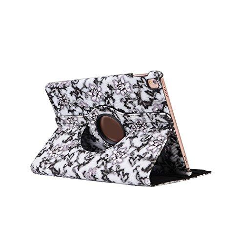 Cuitan 360° Gradi Rotante Smart Case Custodia per iPad Pro 9.7 Pollice, Blu e Bianco Porcellana Serie PU Pelle Flip Pieno Protettivo Caso con Sonno Auto / Sveglia Funzione e Stand Funzione Case Cassa Cover Custodia Caso per iPad Pro 9.7 Pollice - Nero (Non incluso iPad)
