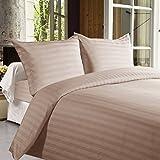 #2: Linenwalas Pure 600TC Premium Cotton Silken Soft Feel King Size Thick Stripes Pillow Covers - Set of 2 - Light Pink - 20