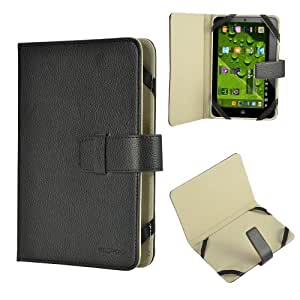 "Black Premium Synthetic PU Luxury Leather Folio / Flip Case Stand Cover Protector Skin Wallet For 7"" 7 inch Android Tablet PC, ASUS GOOGLE Nexus 7, 2.2 EASY TAB, MID, Apad, Epad, Blackberry playerbook, Huawei Mediapad, T-Mobile SpringBoard 7"", Kobo Vox, Kobo Arc ,Samsung Galaxy Tab SCH-i800, 7"" Inch Samsung Galaxy Tab P1000 P6200 P3100 P3113 P3110, 7"" Archos Arnova 7F G3 ,Asus Google Nexus 7"" ,7"" CAPACITIVE MULTI TOUCH ANDROID 4.0 Tablet PC ,Acer Iconia A100 7"" Universal"
