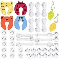 45 Piezas kit de Seguridad para Bebés kit de Seguridad para Niños, 6 Cerraduras de Seguridad+6 Cerraduras de Cajón de Esquina