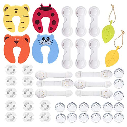 45 Pcs Kit de Seguridad para Bebés 6 Cerraduras de Seguridad Niños+6...