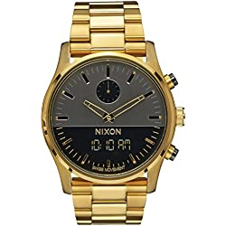 Gunmetal Grey/Gold The Duo Watch by Nixon