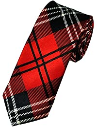 New Red Tartan Skinny Tie